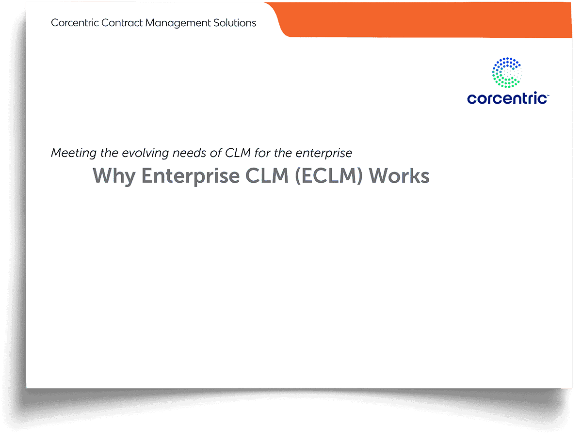 Corcentric White Paper: Why Enterprise CLM (ECLM) Works