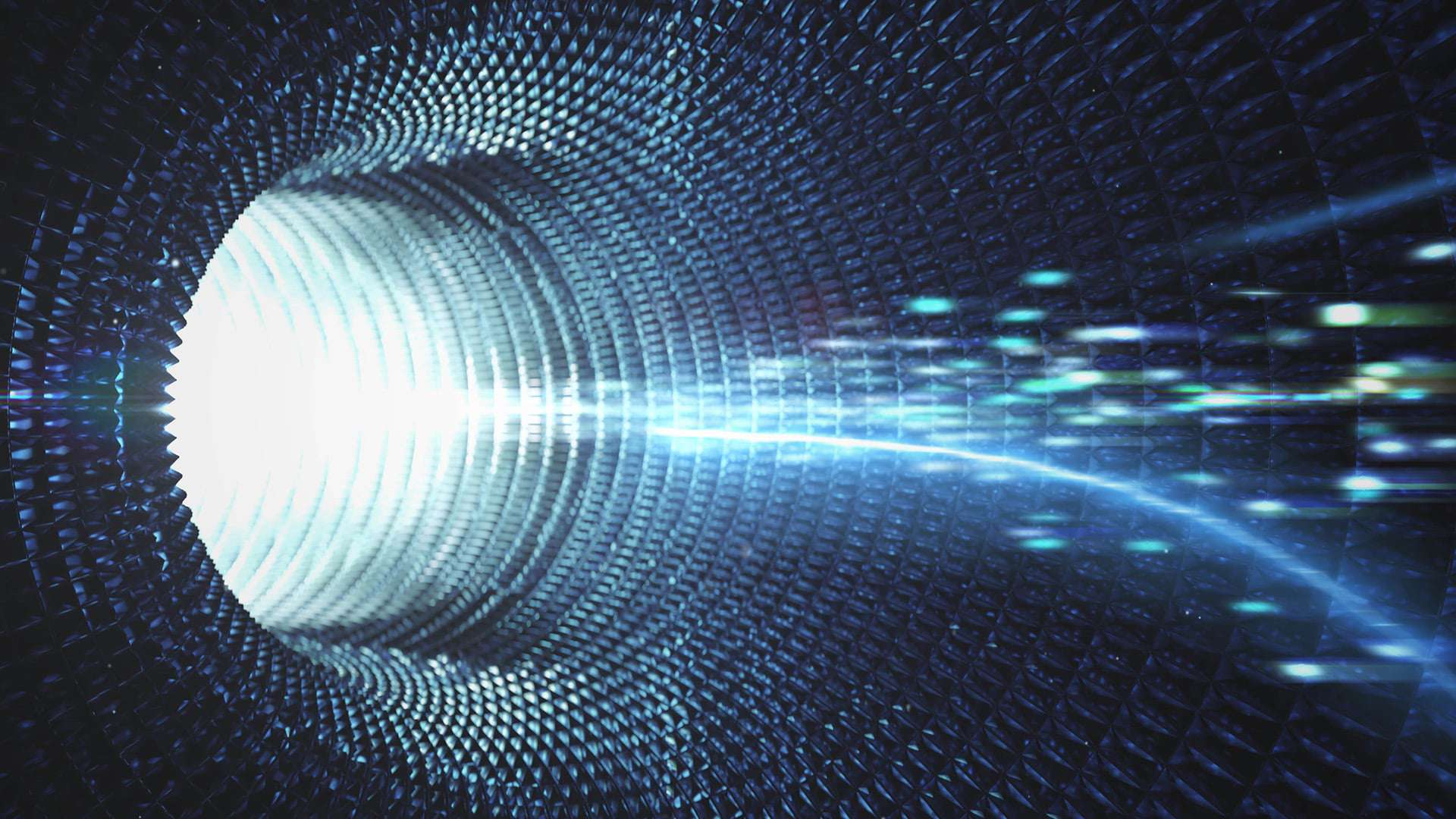 Speed motion quantum in tunnel