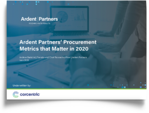 Ardent Partners' Procurement Metrics that Matter in 2020 Report