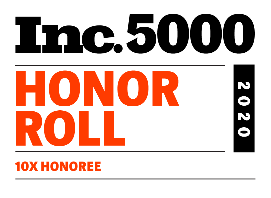 Inc. 5000 2020 - 10x Honoree
