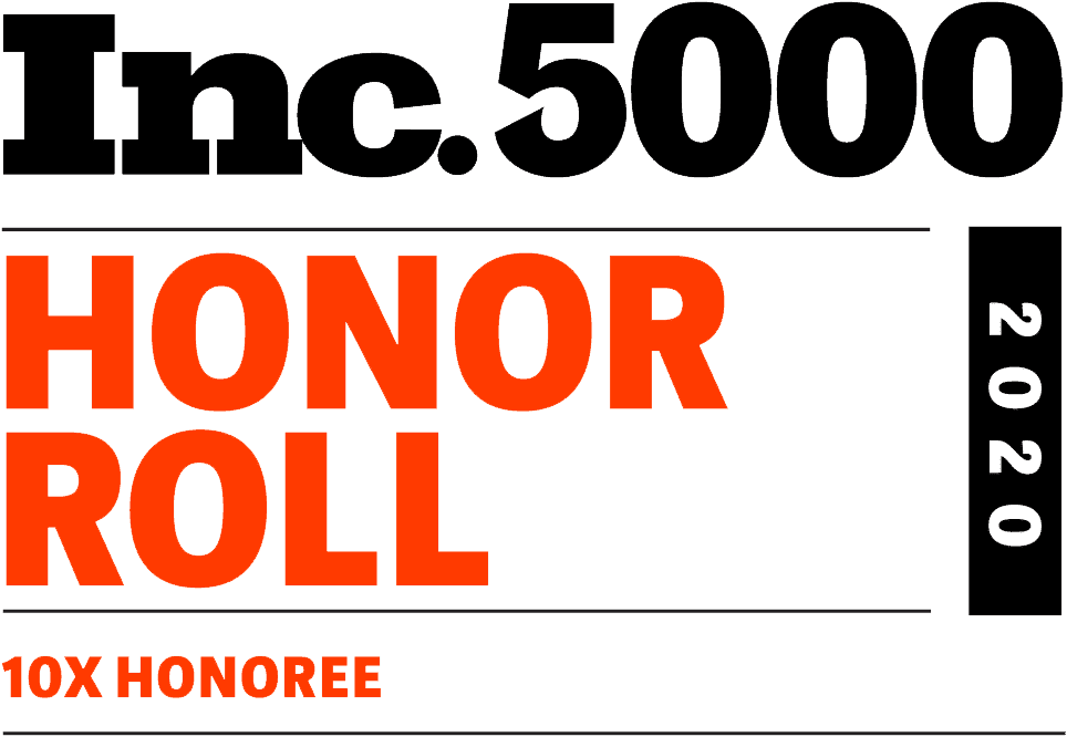 Inc.5000 Honor Roll 2020 10x