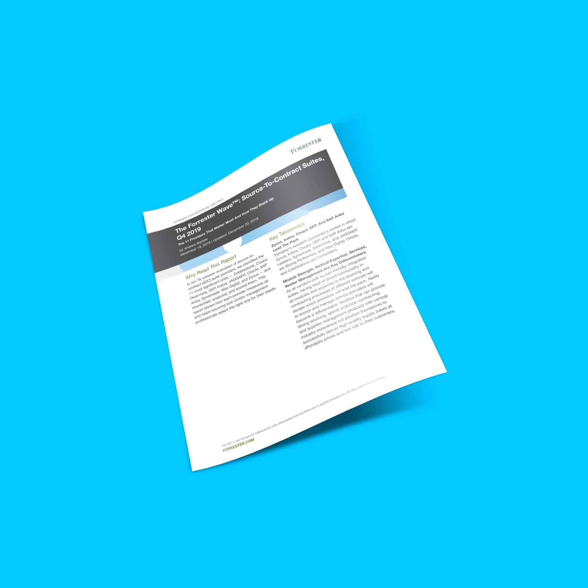 The Forrester Wave: Source-to-Contract Suites Q4 2019